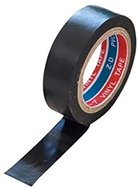 Xennos Tape - Black electrician wire insulation flame retardant plastic tape Electrical high voltage PVC waterproof adhesive Electrical Tape - (Color: Black)