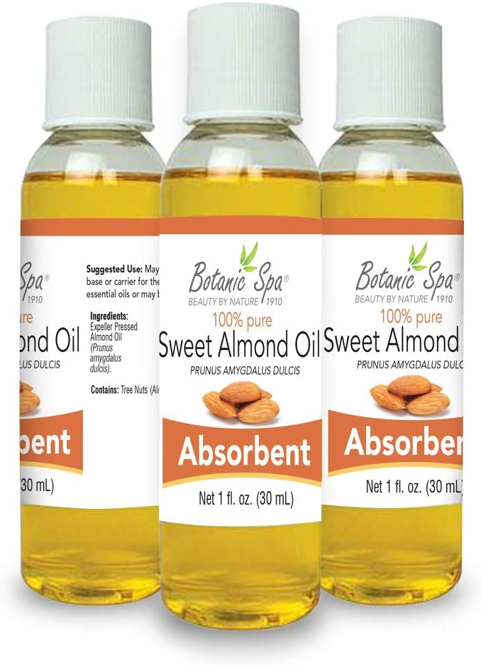 Botanic Spa Sweet Almond Carrier Oil - Beneficial Natural Essence - Promotes Aromatherapy Relaxation Non Greasy Mildly Scented Perfect Base for Massage Keeps Your Skin Soft and Moisturized