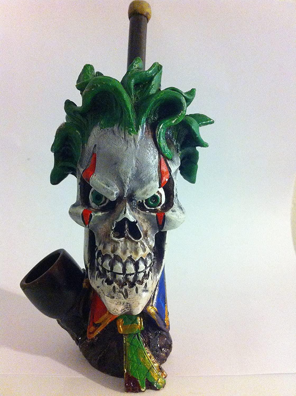 Handmade Tobacco Pipe, Evil Joker Face Style