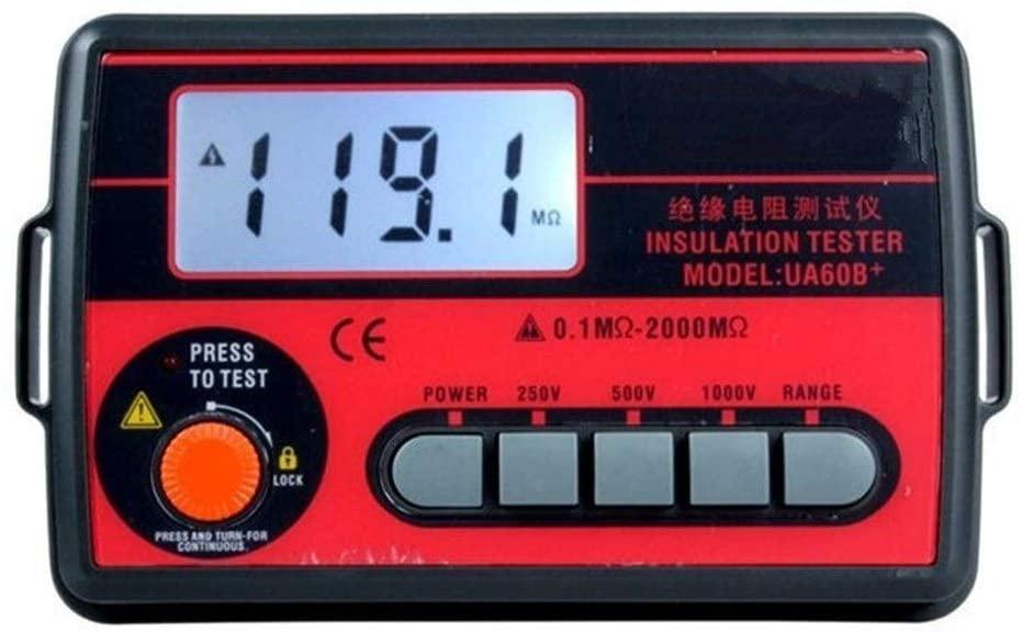Luckya High Precision Original Insulation Resistance Meter Digital Megohmmeter 250V/500V/1000V Insulation Ohmmeter Shake Table Testing Meter