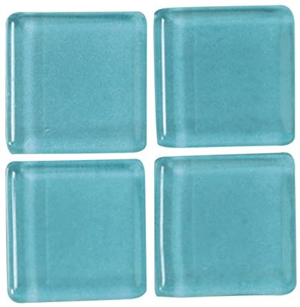 MosaixSoft Glass Tiles 20 x 20 x 4 mm 200 g ~ 41 pcs. Turquoise