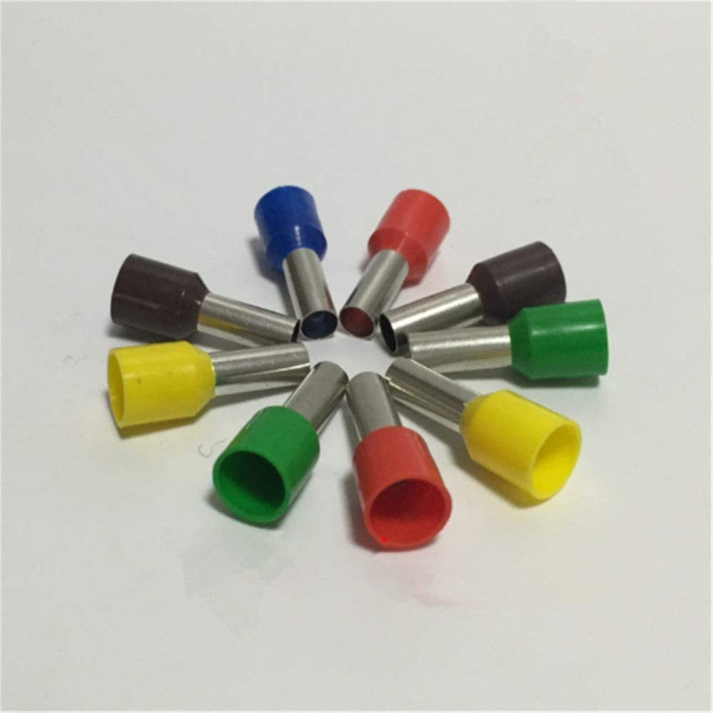 Onvas 200pcs/bag E25-16 E25-22 Tube Insulated Terminals 25.0mm2 Square Insulated Cord End Terminal Wire Ferrules - (Color: E25-16)