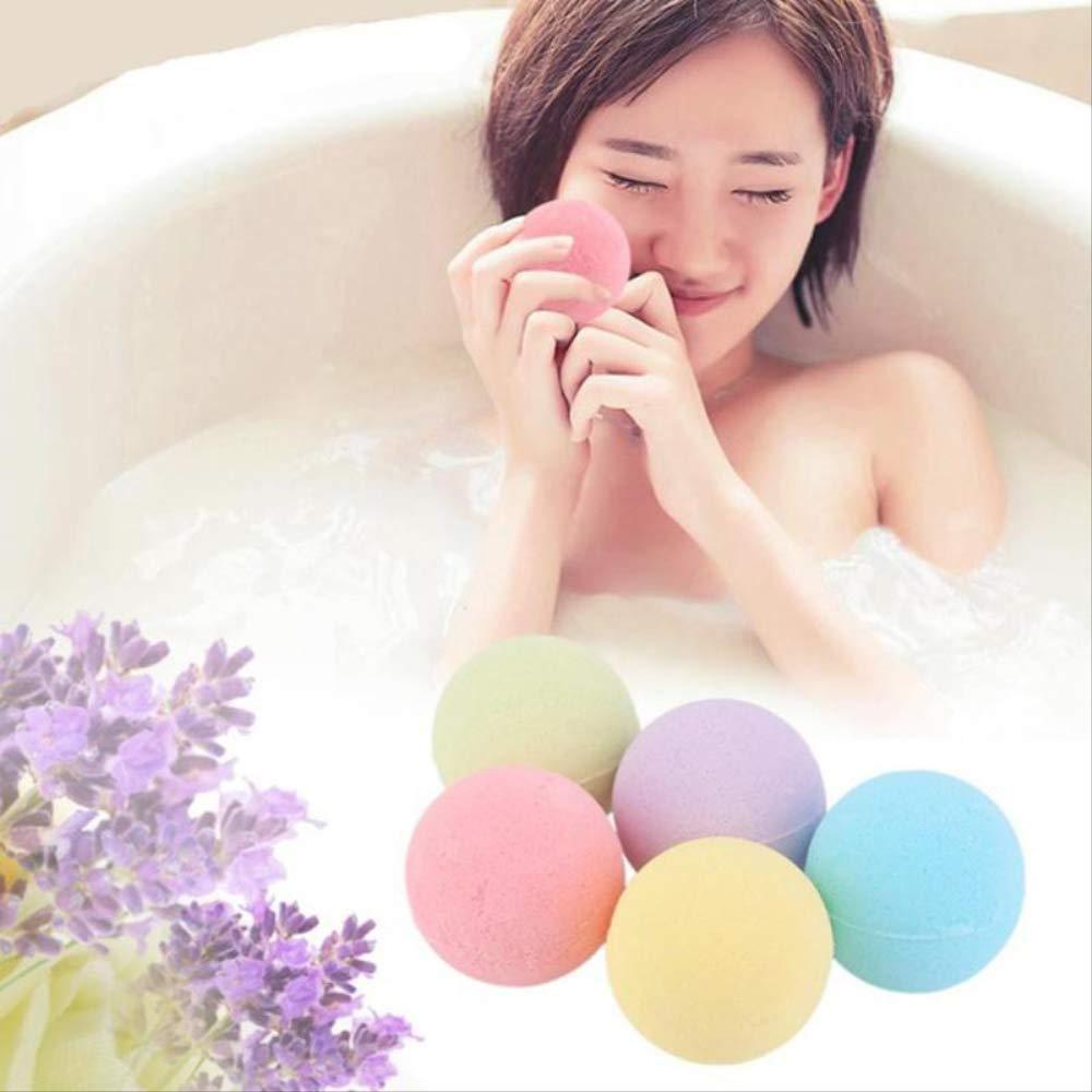 5 Piece Home Hotel Bathroom Bath Ball Bomb Aromatherapy Type Body Cleaner Handmade Bath Salt Gift