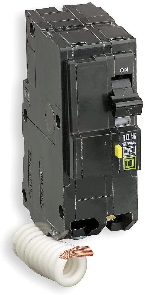 Square D - QO240GFI - Schneider Electric / Square D QO240GFI QO Qwik-Gard Ground Fault Miniature Circuit Breaker; 40 Amp, 120/240 Volt AC, 2-Pole, Plug-On Mount