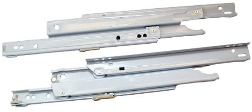 Blum B430E 10Wh 10 In. Full Extension Bottom-Side Mount - White