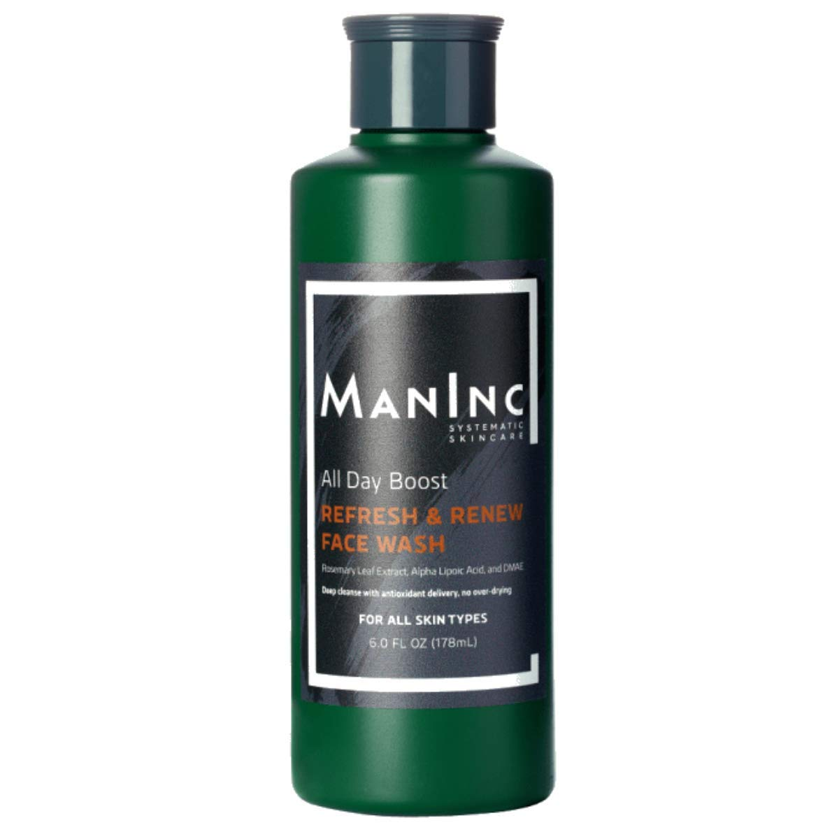 MAN INC Face Wash Cleanser for Oily Acne Prone Skin to Reduce Acne Scars, Clarify Skin, Cleanse Pores, Oil Control To Reduce Breakouts for Normal, Oily and Acne Prone Skin, 6 oz