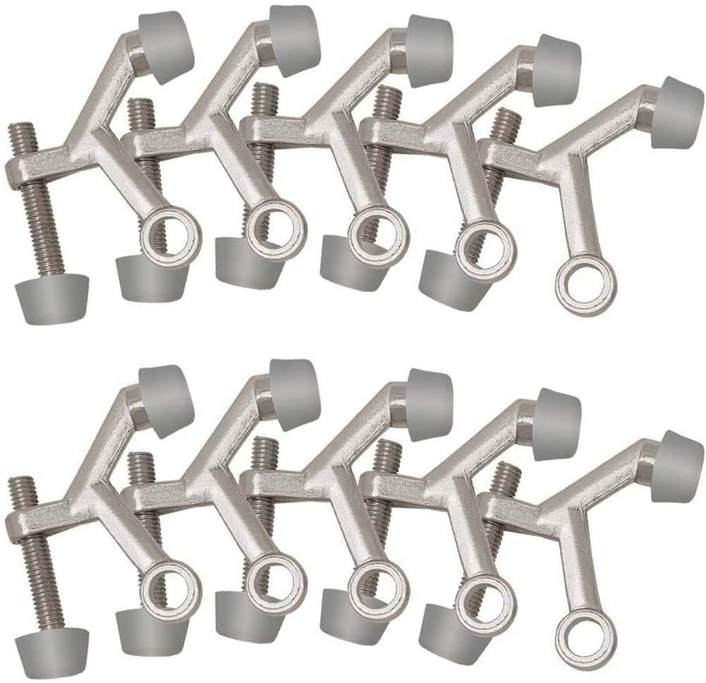 Accessories Standard Hinge Pin Door Stop, 10-Pack, Satin Nickel, Product Dimensions: 2.13 x 0.57 x 1.97 inches