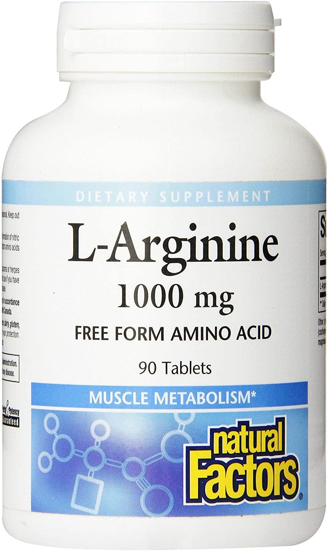 Natural Factors - L-Arginine, Supports Muscle Metabolism, 90 Tablets