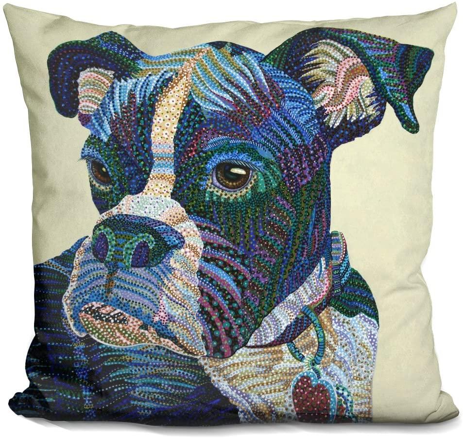 LiLiPi Boxer Portrait Decorative Accent Throw Pillow