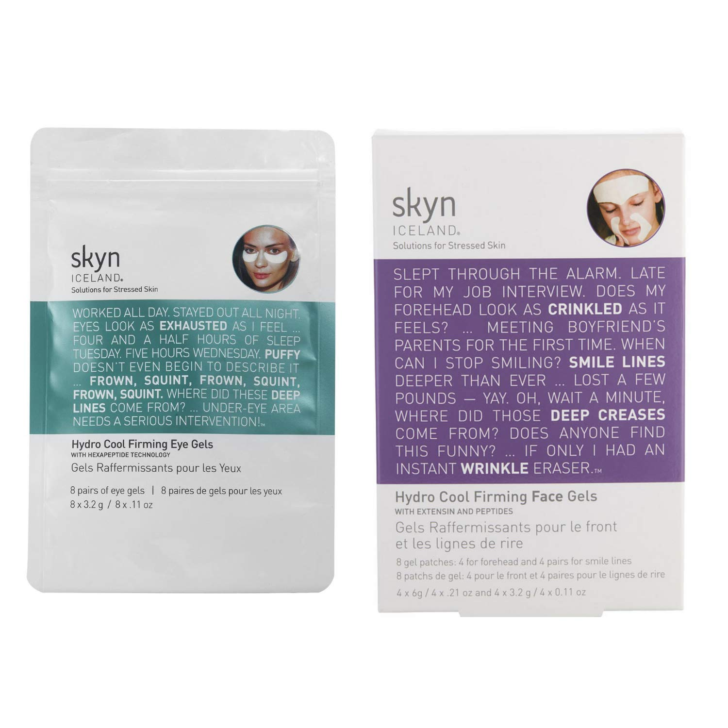 skyn ICELAND Hydro Cool Firming Eye Gel and Hydro Cool Firming Face Gels Set