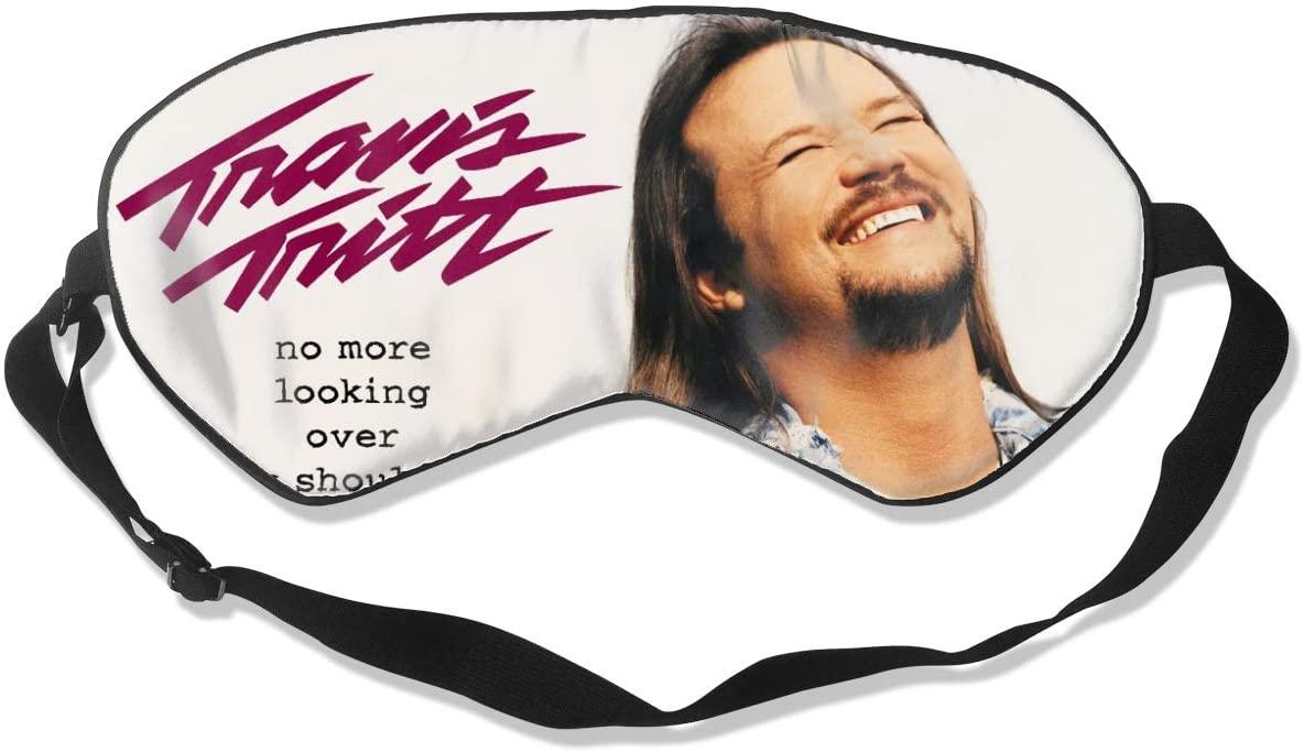 WushXiao Luanelson Travis Tritt Fashion Personalized Sleep Eye Mask Soft Comfortable with Adjustable Head Strap Light Blocking Eye Cover