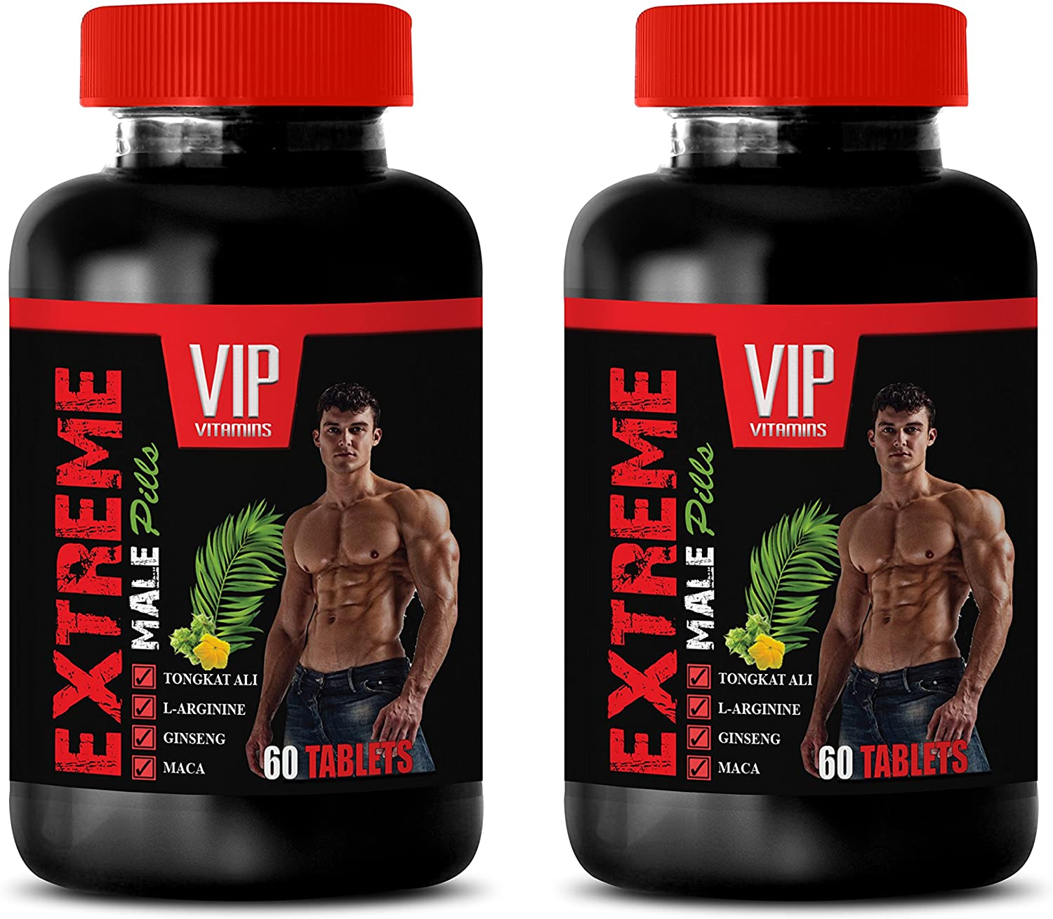 Male libido Enhancement - Extreme Male Pills - tongkat ali Root Extract - 2 Bottles 120 Tablets