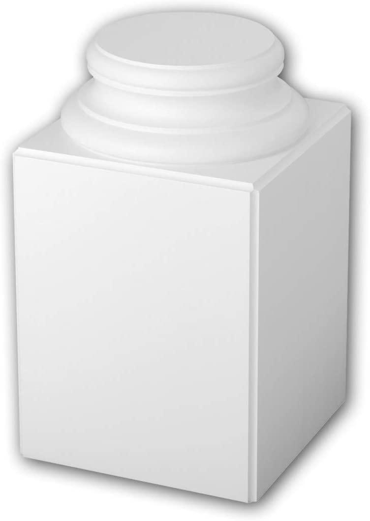 Full Column Base 113100 Profhome Column Decorative Element Timeless Classic Design White