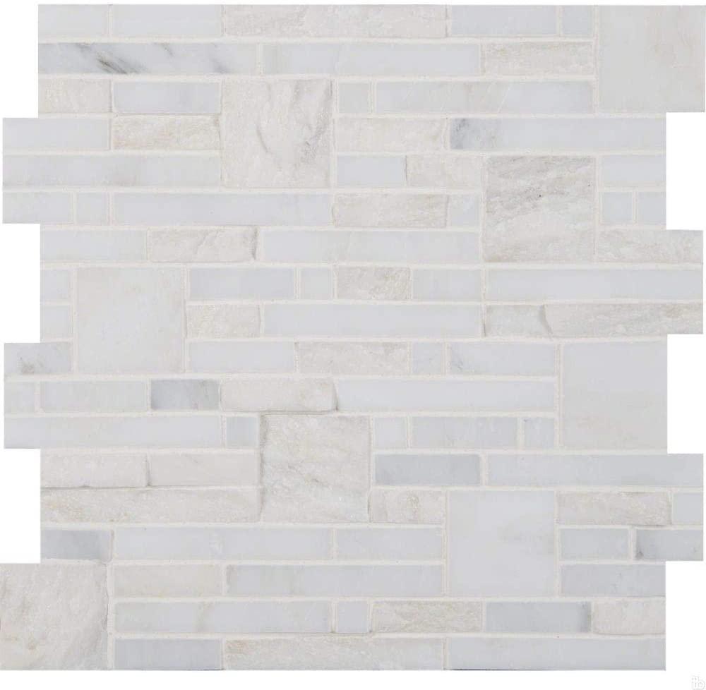 Greecian White Opus Pattern Mosaic, 8 SFT/Case(8 Pcs)