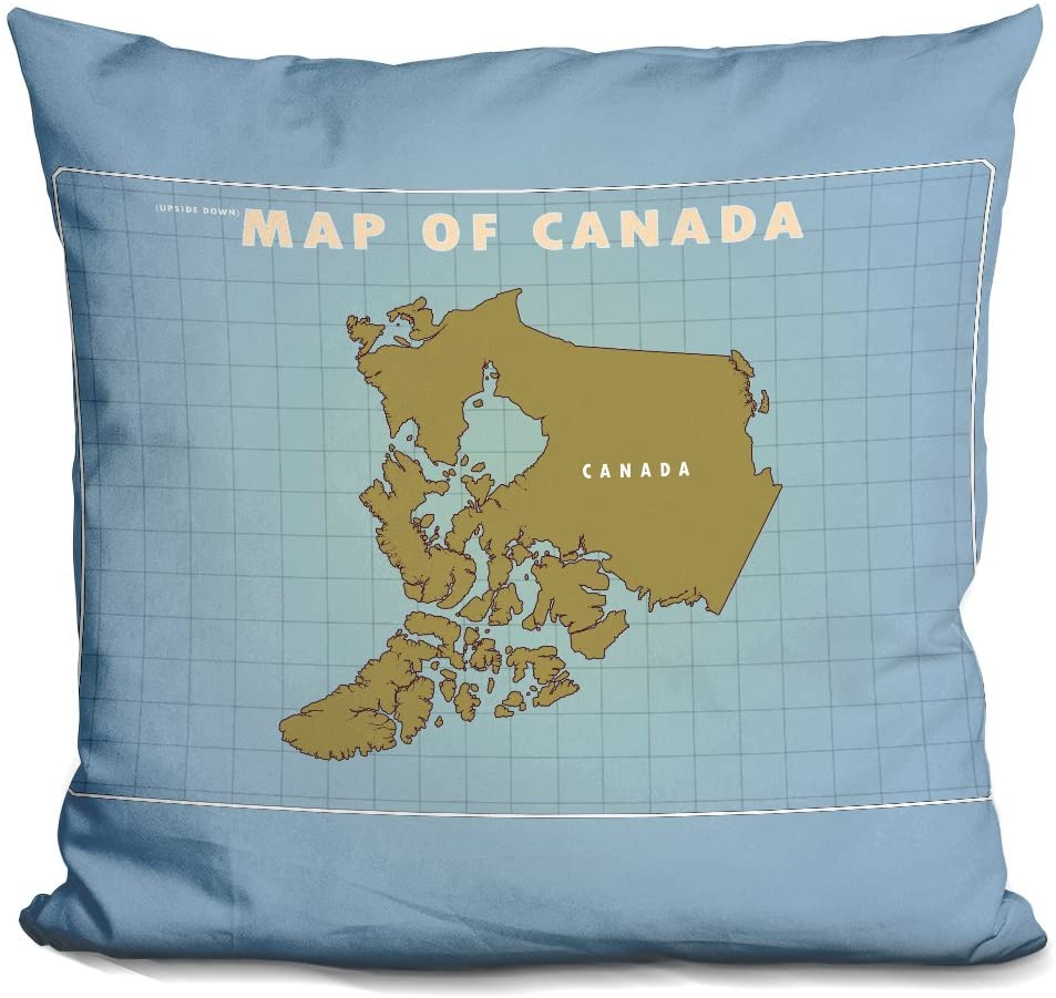 LiLiPi Upside Down Canada Decorative Accent Throw Pillow