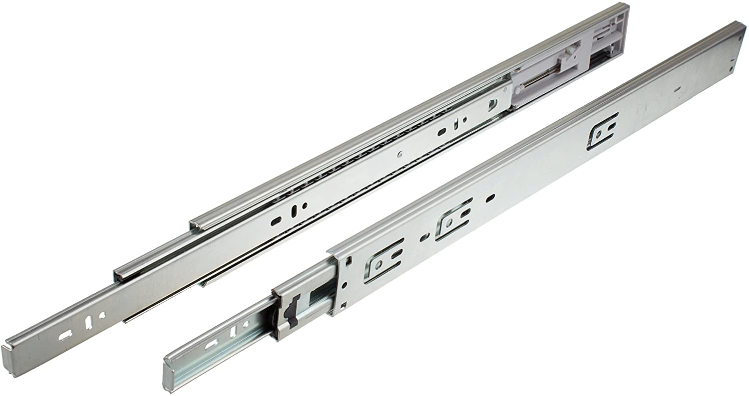 GlideRite Hardware 1475-Z - 14-inch 100 lb. Hydraulic Soft Self Close Full Extension Ball Bearing Drawer Slides