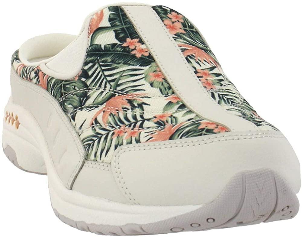 Easy Spirit Travel Time Women's Slip On 6 B(M) US Cream-Coral-Floral