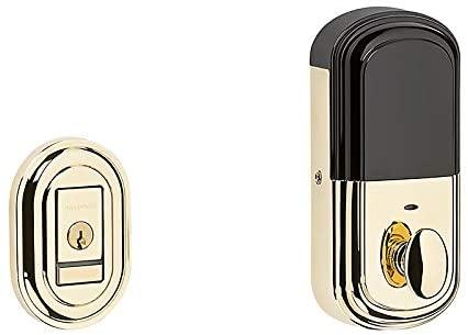 Baldwin 8231.B Evolved Traditional Single Cylinder Deadbolt with Bluetooth Techn, Lifetime Polished Brass