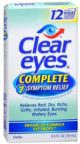 Clear Eyes Complete 7 Symptom Relief Eye Drops - 0.5 fl oz