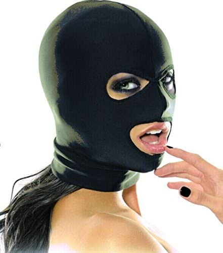Strong Elastic Spandex Mask Hood with Open Eyes and Mouth Holes