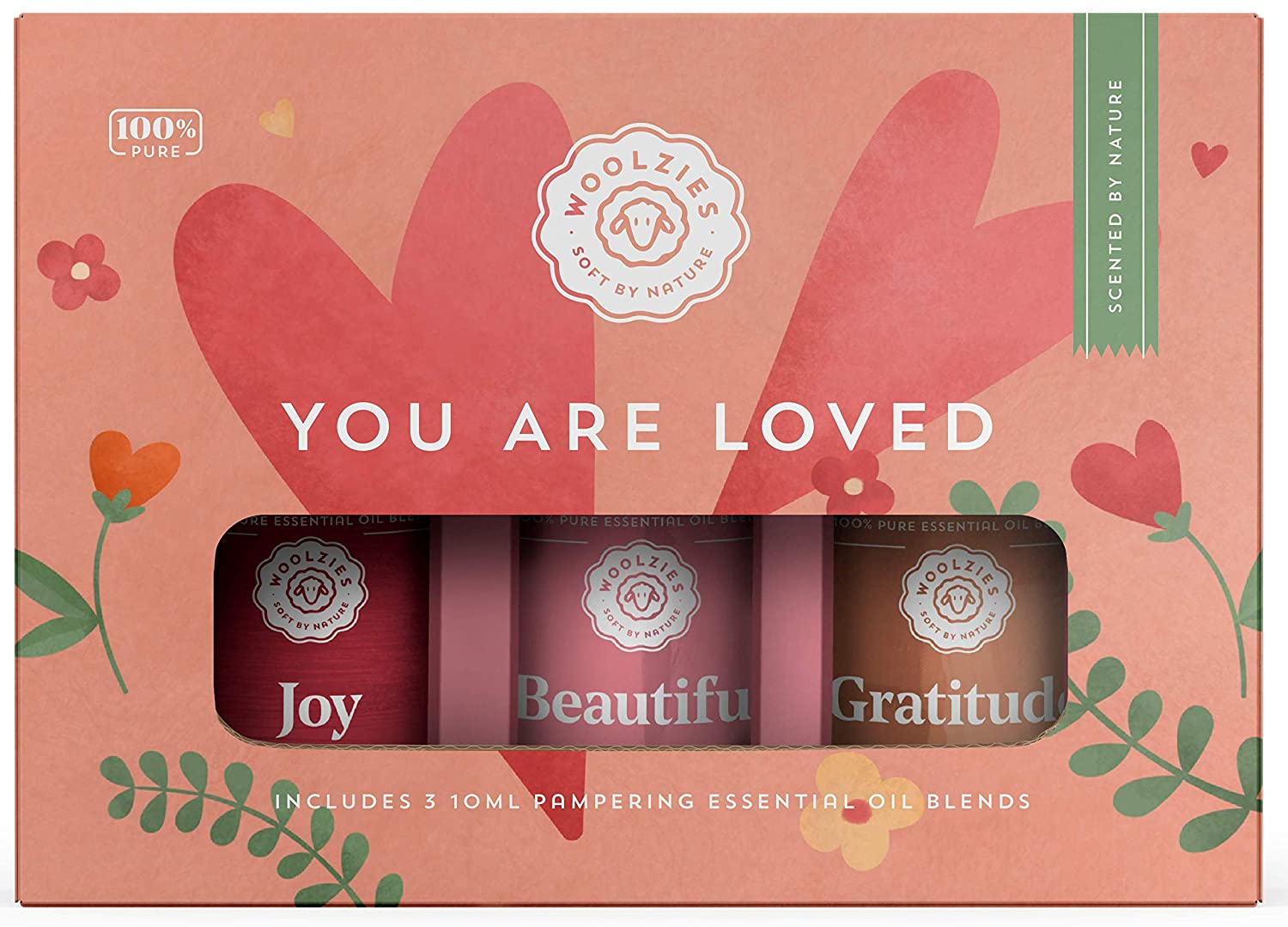 Woolzies You Are Loved Essential Oil Gift Set | Highest Quality Aromatherapy Therapeutic Grade | Includes Joy, Beautiful, and Gratitude Blends | | For Diffusion Internal, or Topical Use