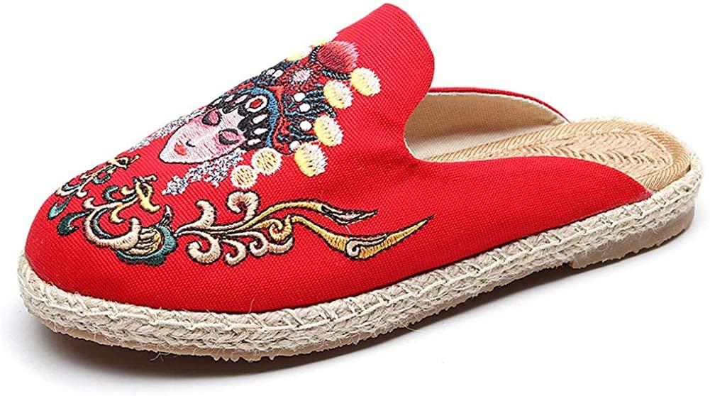 fereshte Women's Mule Breathable Flat Espadrilles Shoes, Tongue