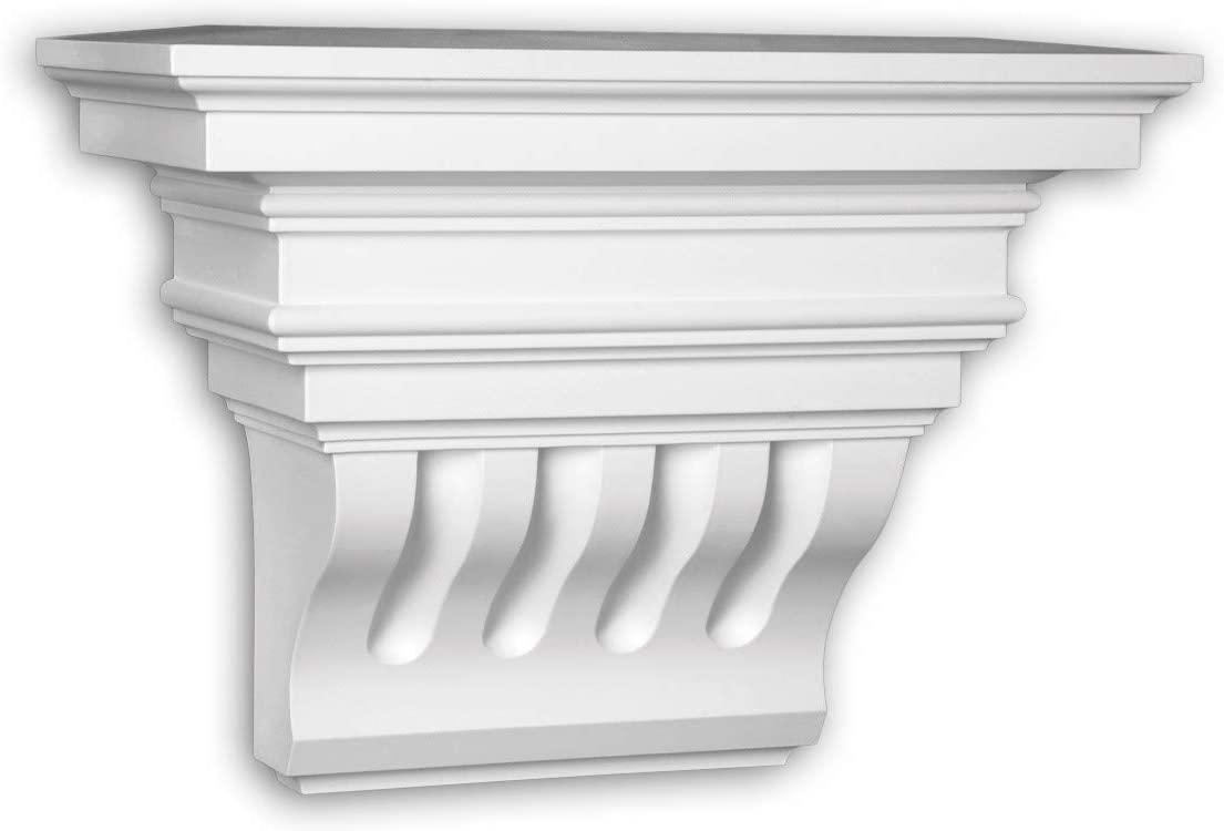 Corbel Profhome 483301 Facade Moulding Deco Element Facade Element Corinthian Style White