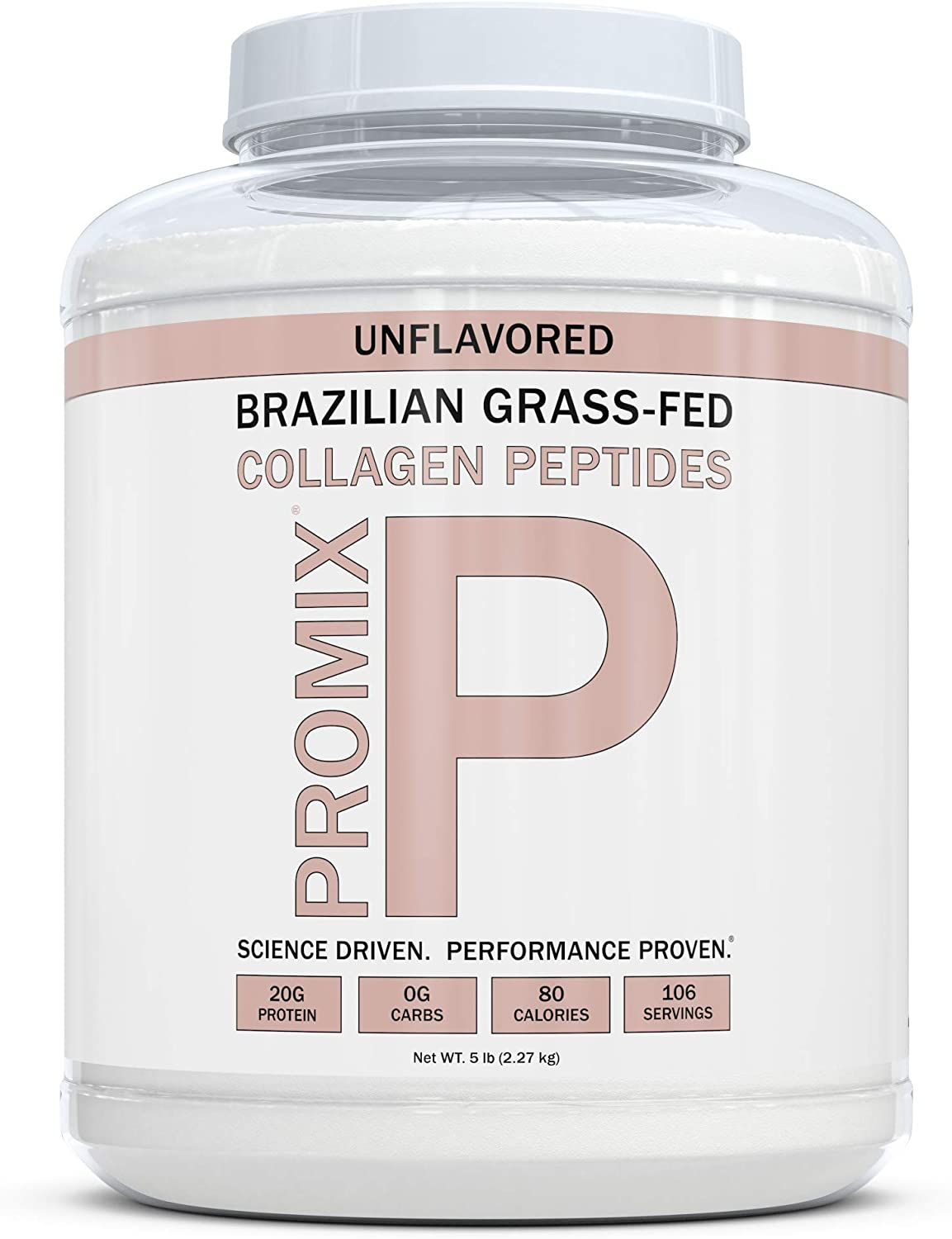 Collagen Peptides Joint Health Supplement: Unflavored Drink Mix Powder - Structure & Function Booster - Supplements Protein Production for Strong Healthy Bones (Unflavored, 5 LB)