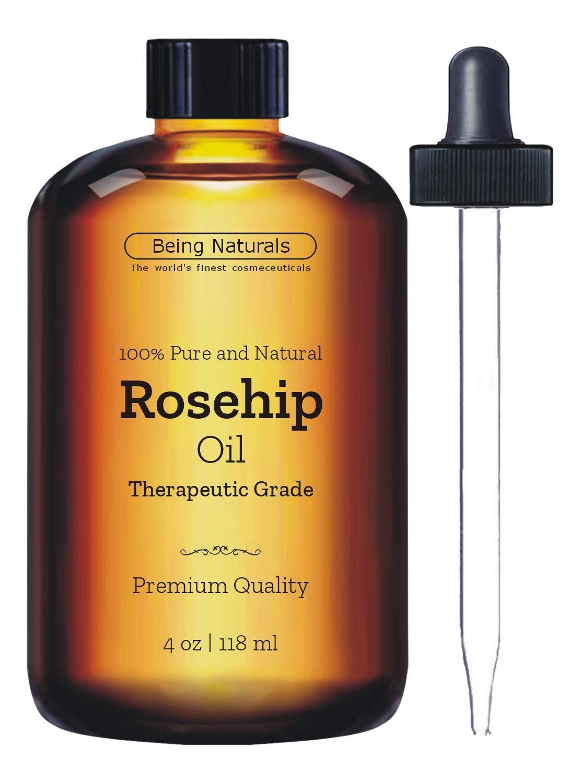 Therapeutic Rosehip Essential Oil - Huge 4 OZ - Premium Rosehip Oil with Glass Dropper