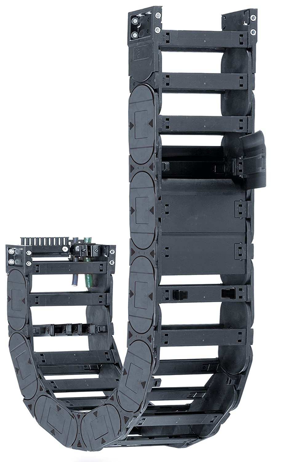 Igus E4-42-20-200-0 Energy Chain Cable Carrier, Polymer, Snap-Open Crossbar, 1.5 Max Cable Diameter, 1.65
