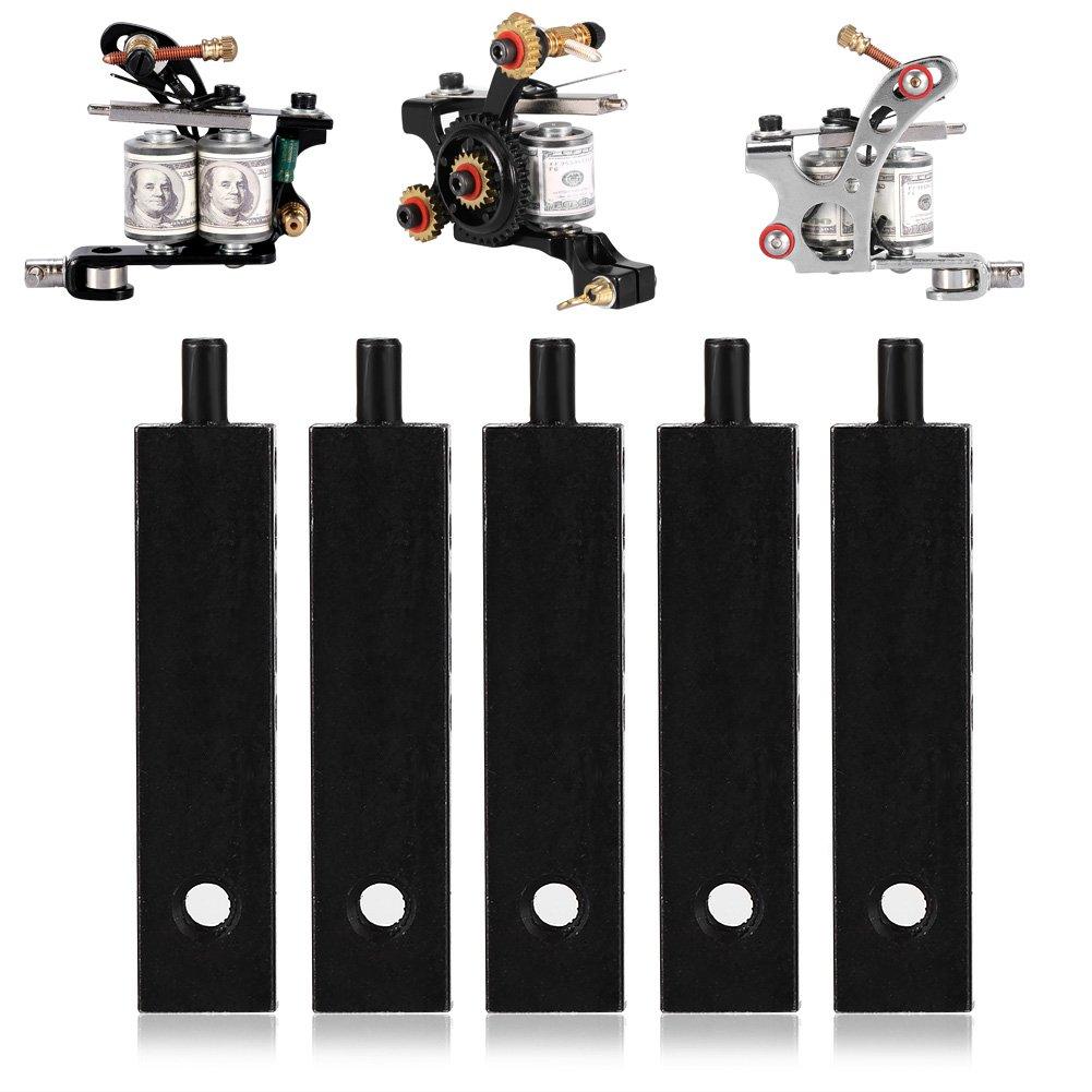 Cimenn 5Pcs 46mm Black Armature Bars For Tattoo Machine Parts Accessories Set Supply