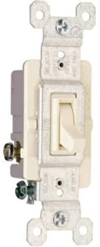 PASS & SEYMOUR 663LAGTU Grounded Standard 3 Way Toggle Switch, 15-Amp, Almond