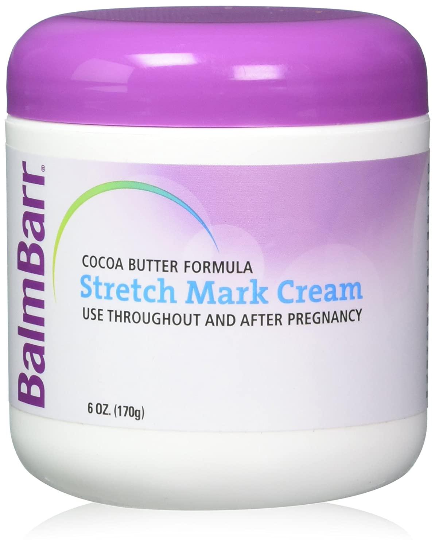 BalmBarr Cocoa Butter Formula Stretch Mark Cream, 6 Ounces