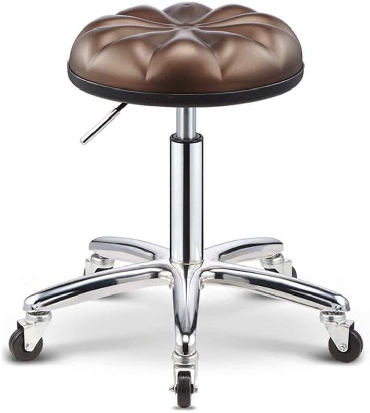 QTQZDD Swivel Stool Massage Chair Adjustable 45-58 cm Bar Stool Ergonomic Stool for Hairdressing Manicure Tattoo Therapy Beauty Massage Spa Salon (Color : D)