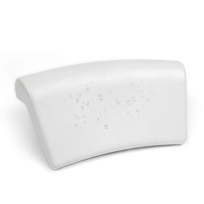Bath Pillow, Anti-slip Bathtub Spa Pillow PU Leather Spa Pillow For Tub Comfortable Bath Pillow With Suction Cups Headrest For Bathtub Neck Pillow Bath - By NUMIPU
