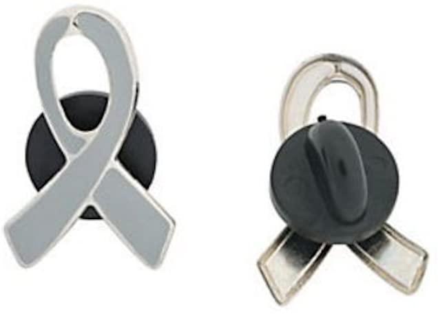 1 Gray Awareness Enamel PINS! Diabetes, Brain Cancer, Asthma Support Awareness