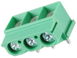 NTE Electronics 25-E1100-05 E1100 Series Eurostyle Terminal Block, Plug Vertical, 15 Amp, 30-12 AWG Wire Range, 5 Pole, 5.08 mm Pitch, 300V