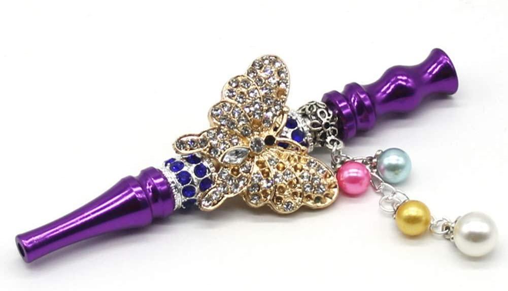 YLCJ Fancy Hookah Skull Design Shisha Hose Mouth Tip Middle Eastern Style Hookah Mouth Tip, Blue (Color: Purple)