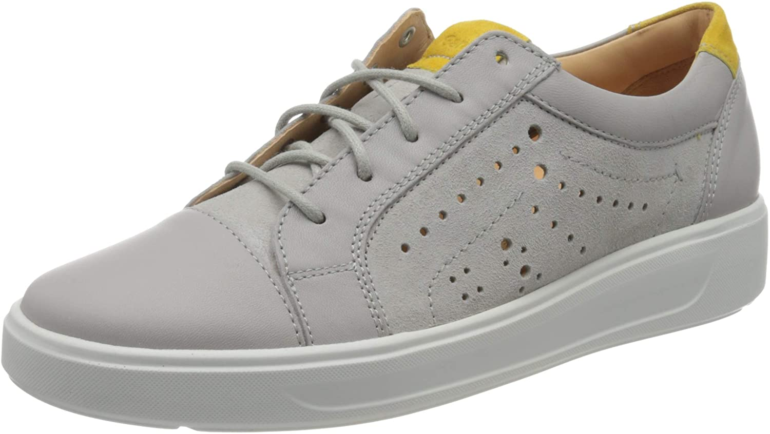 Ganter Women's Derby Lace-Up, Grey Light Grey 6700, 7.5 us