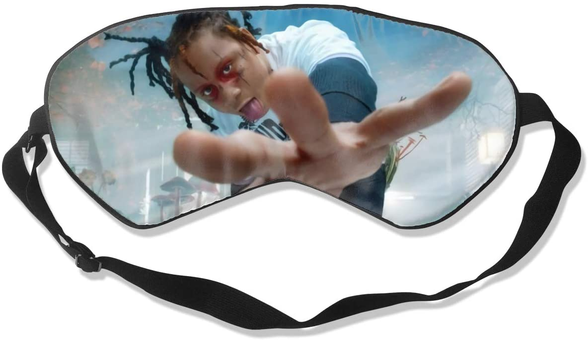 Ktdbthut Trippie Redd Fashion Sleep Eye Mask Soft Comfortable Unisex with Eye Mask Adjustable Headband