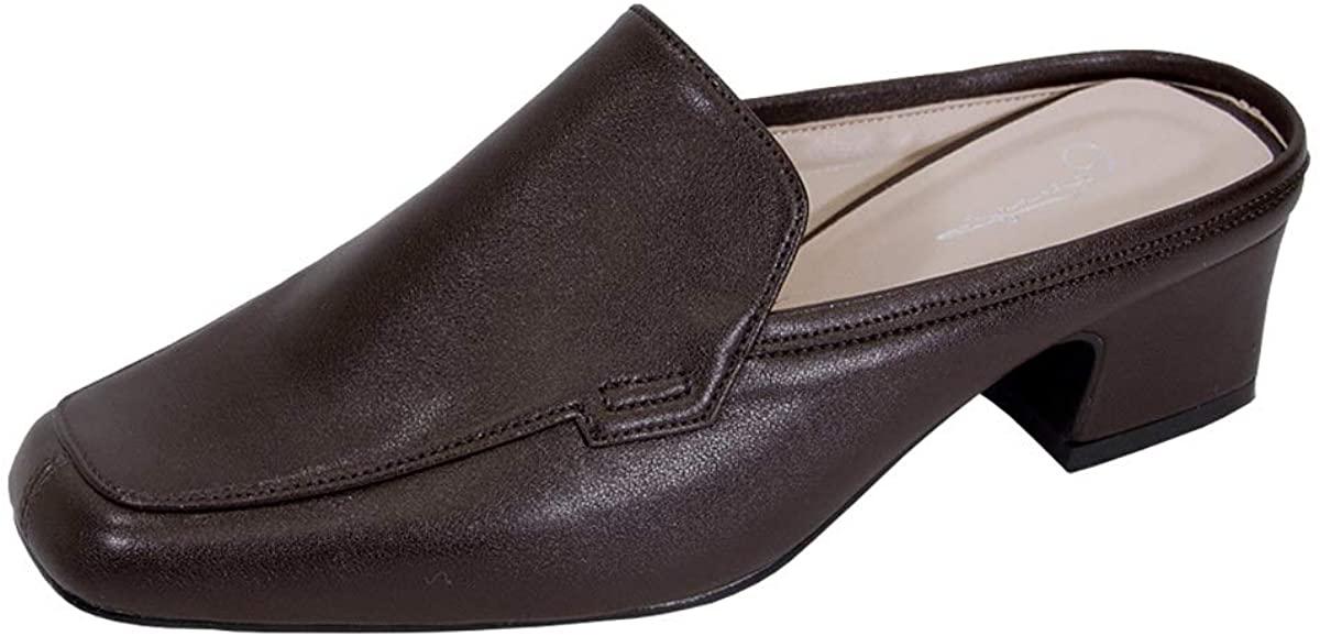 Peerage Jackie Women's Wide Width Comfort Casual Leather Mules
