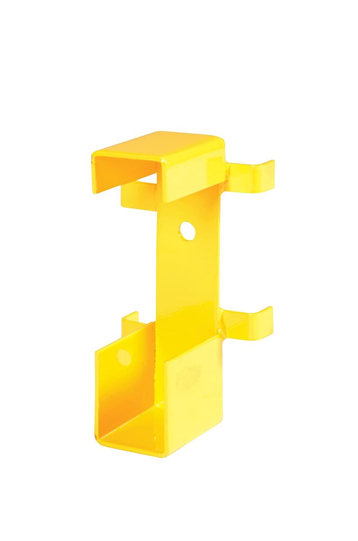 Vestil STGR-BKT-DI Yellow Extra Tubular Mounting Post Bracket with Hardware, 10.5 Length, 5 Width