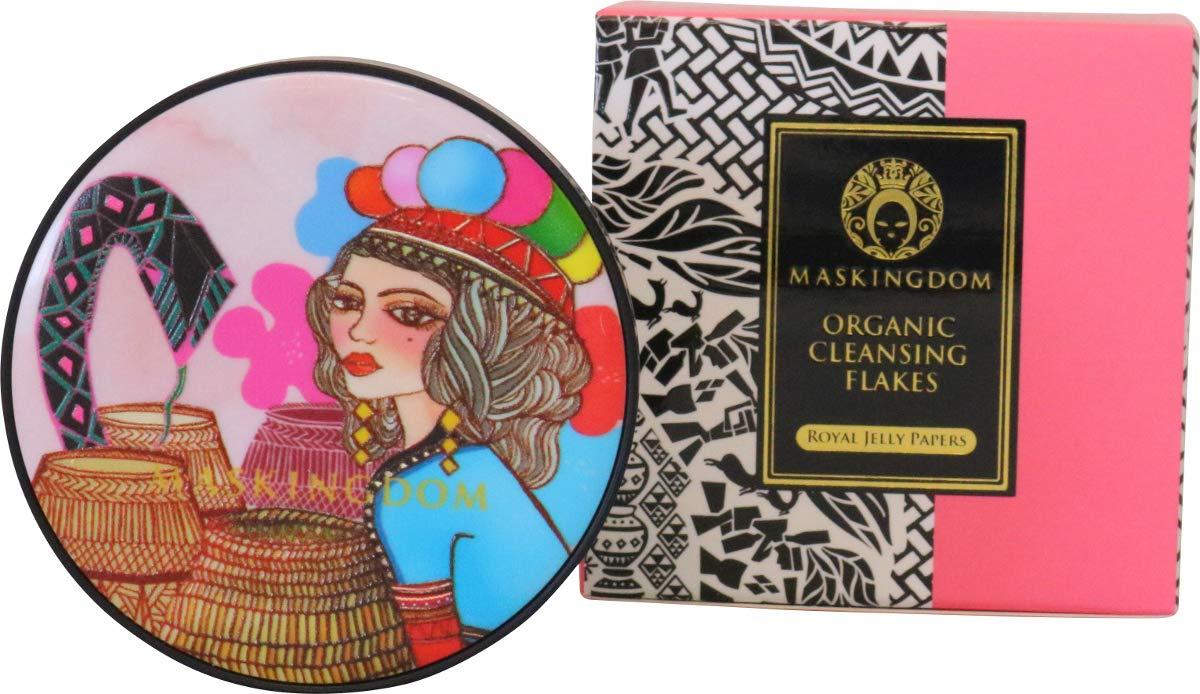 Maskingdom Organic Facial Cleansing Flakes (100 sheets) - Royal Jelly Paper (Pink - B)