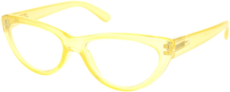 Womens Gothic Mod Retro Cat Eye Plastic Reading Glasses