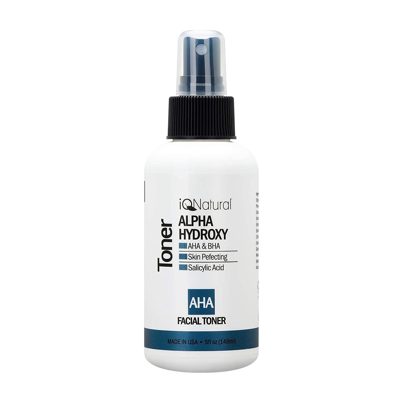 AHA Glycolic Acid Renewing Facial Astringent Toner - Best Treatment to Exfoliate Deep, Minimize Pores & Reduce Breakouts, Appearance of Aging & Scars â 5 OZ