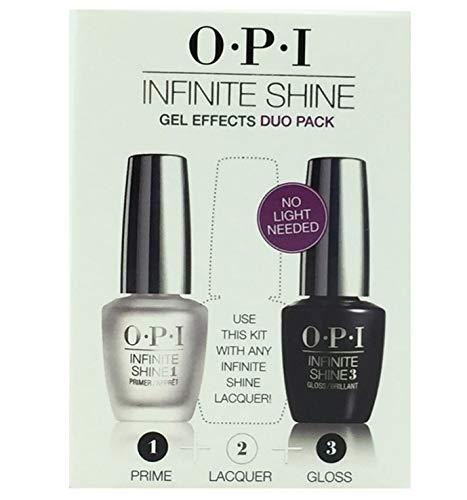 New OPl Infinite Shine Gel Effects - Duo Pack - Primer + Gloss size each 0.5 Fl oz