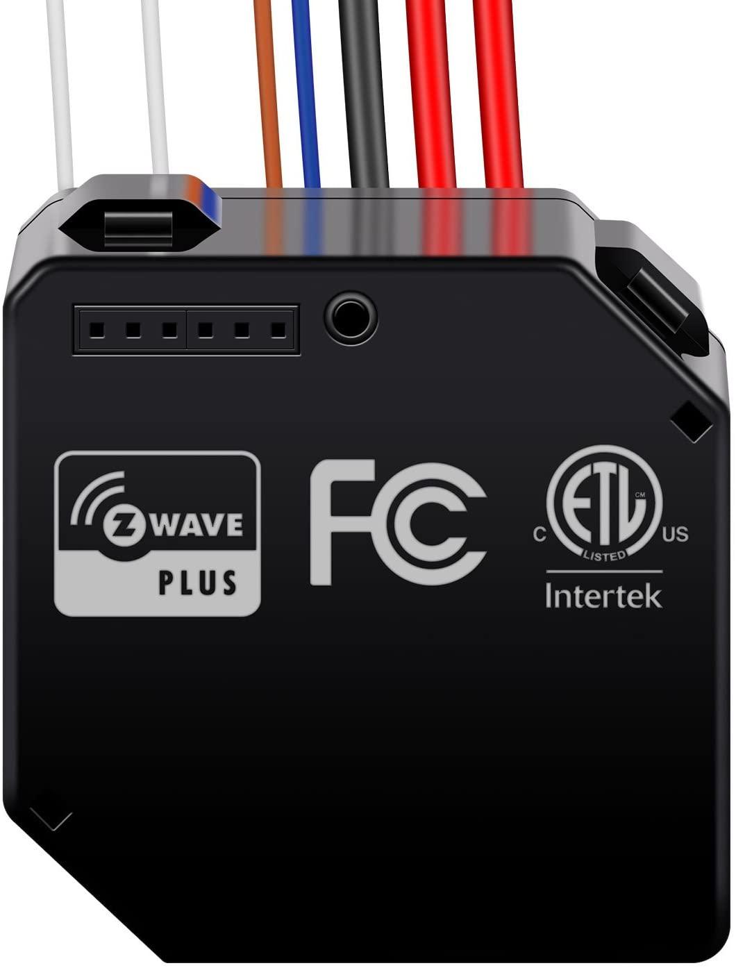 Enerwave ZWN-RSM2-PLUS Z-Wave Plus Switch Module, Dual Relay, Smart Hidden Switch, NEUTRAL WIRE REQUIRED, Black