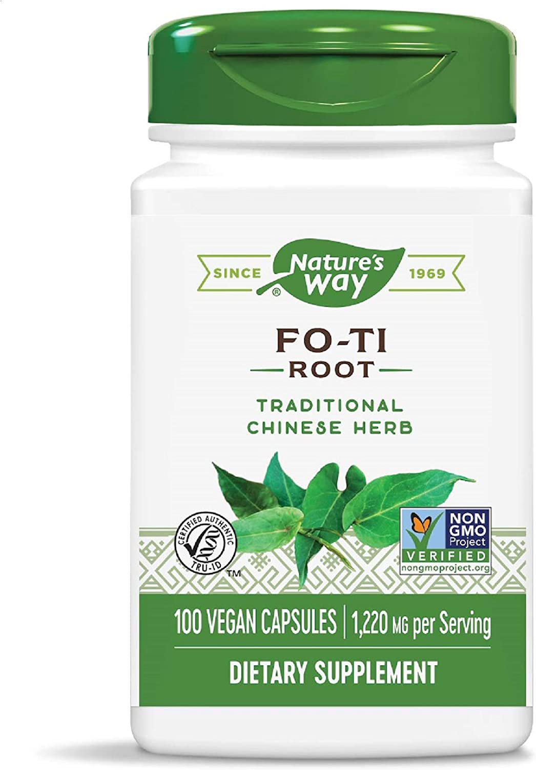 Nature's Way Fo-Ti Root, 1,220 mg per serving, 100 Capsules