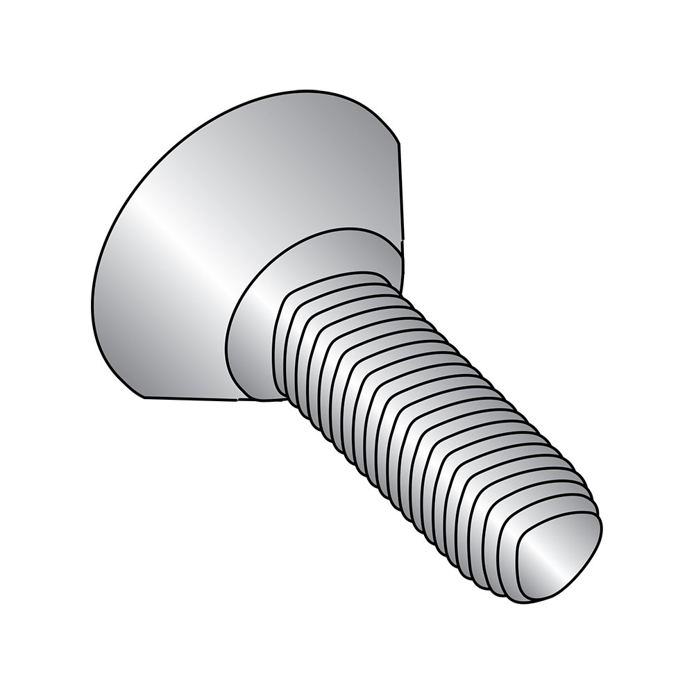 18-8 Stainless Steel Thread Rolling Screw for Metal, Passivated Finish, 82 Degree Undercut Flat Head, Phillips Drive, #10-32 Thread Size, 1/2