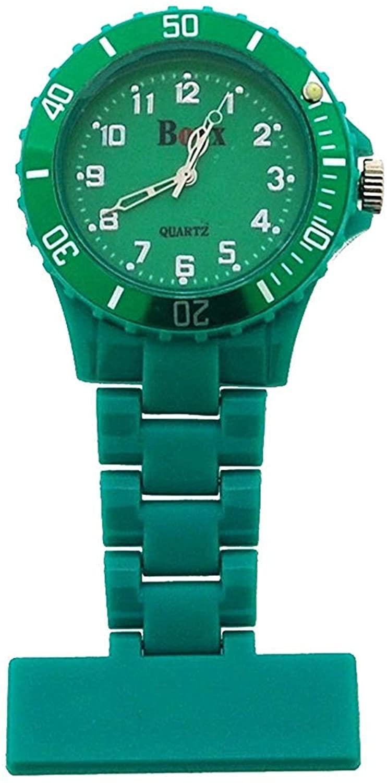 Boxx Green Rotating Bezel Nurses Fob Watch F043